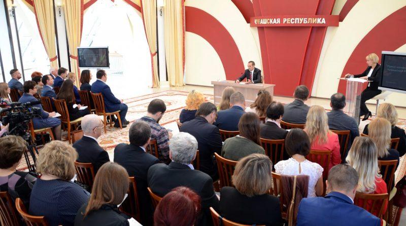 Представители газеты «Алатырские вести» приняли участие в пресс-конференции Главы Чувашии Михаила Игнатьева