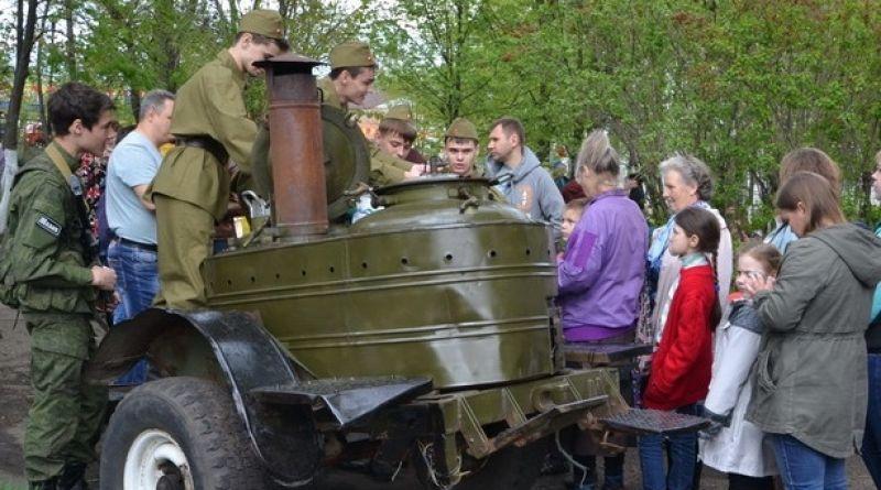 В День Победы в городском парке угощали солдатской кашей