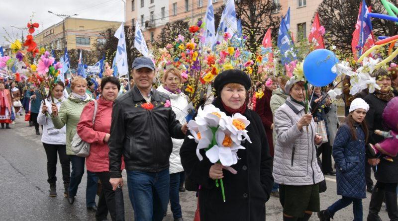 В Чувашии прошли праздничные первомайские шествия