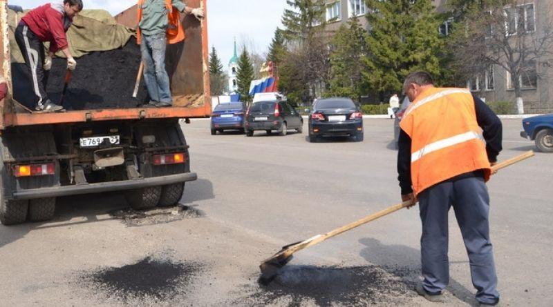 Начался ямочный ремонт дорог