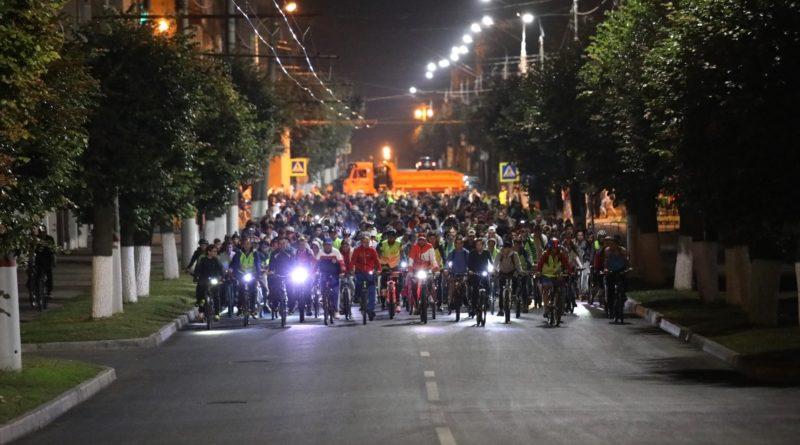 Ночной велопробег состоялся в Чебоксарах