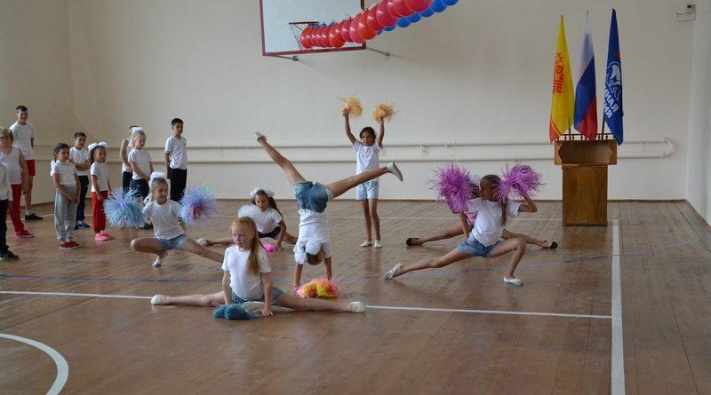 В День знаний в Сойгинской средней школе состоялось открытие обновленного спортивного зала