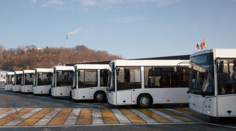 В Чебоксары прибыли 10 автобусов марки МАЗ в рамках расширения сотрудничества с Республикой Беларусь
