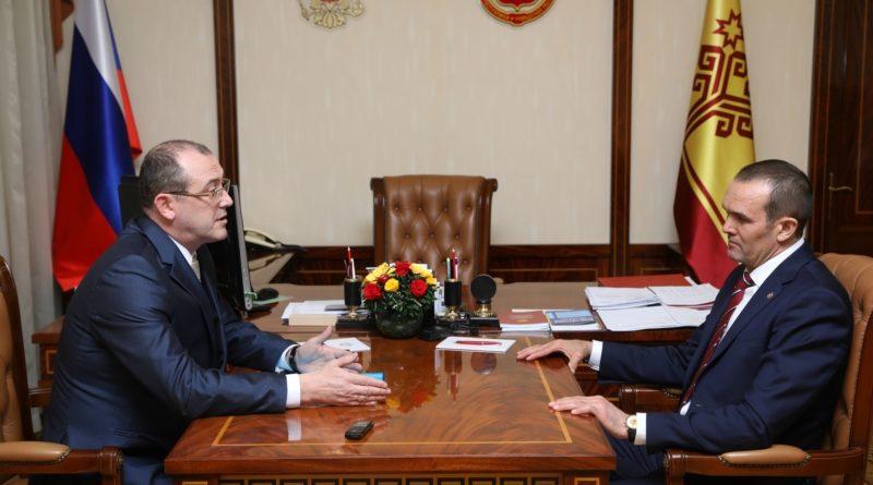 Глава Чувашии провел рабочую встречу с главой администрации города Алатыря