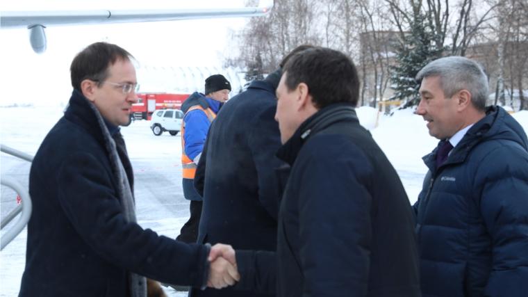 Министр культуры России Владимир Мединский находится с рабочим визитом в Чувашии