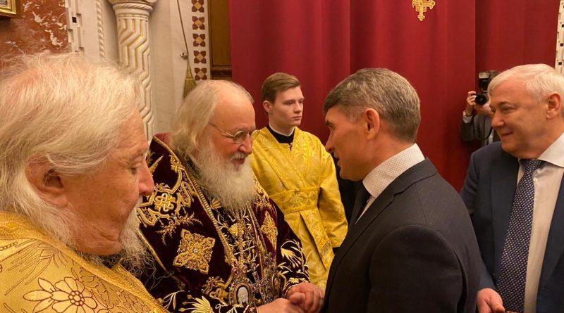 Врио Главы Чувашии Олег Николаев поздравил Святейшего Патриарха Кирилла с 11-й годовщиной интронизации