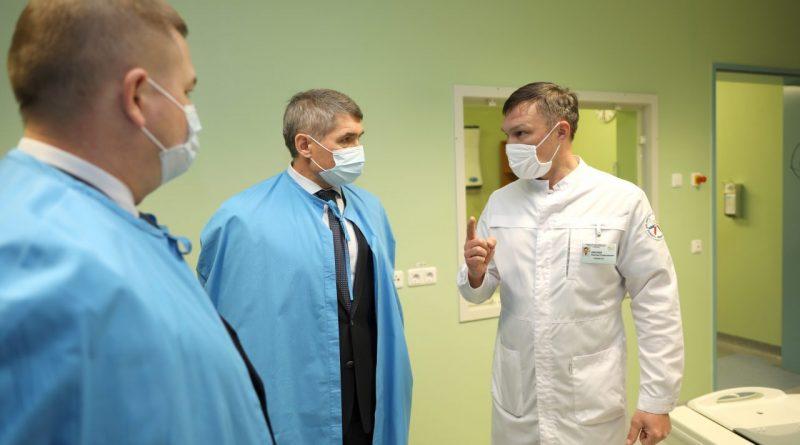 Готовность Федерального центра травматологии в Чебоксарах к приему больных коронавирусом проверил Олег Николаев