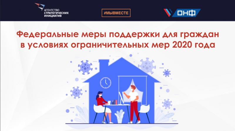 Опубликован сборник-навигатор по мерам поддержки россиян в условиях ограничений из-за коронавирусаас
