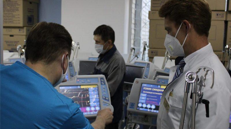В Чебоксарскую Больницу скорой медицинской помощи поступили 29 аппаратов ИВЛ