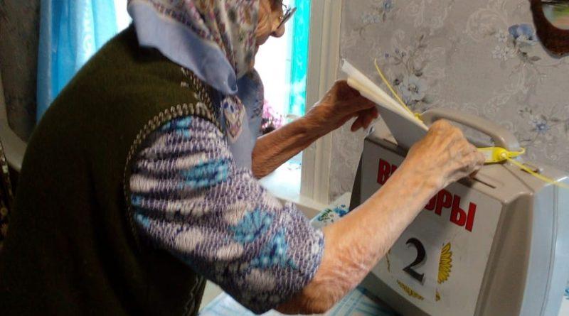 Долгожительница Алатырского района Екатерина Архипова проголосовала на дому
