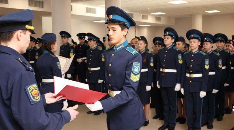 Олег Николаев принял участие в церемонии принятия присяги воспитанников Чувашского кадетского корпуса