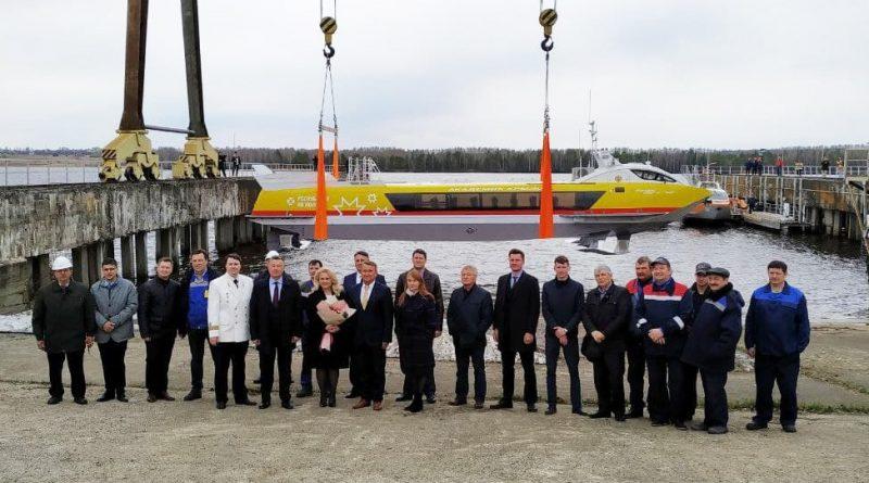 Первый чувашский скоростной катер на подводных крыльях спущен на воду
